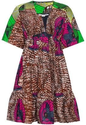Stella McCartney Patterned Gabrielle mini dress with cut out