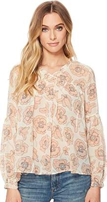 Lucky Brand Women's Pink Exploded Floral Top