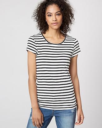 Le Château Stripe Jersey Crew Neck T-Shirt
