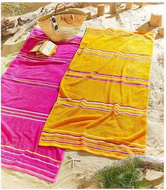 Very Rainbow Beach Pack of 2 Beach Towels in Pink and Orange