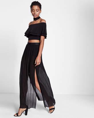 Express High Waisted Pleated Maxi Skirt