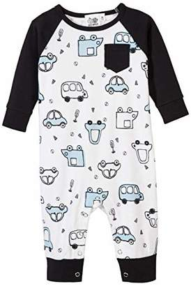 Silly Apples Baby Boys Cotton Blend Long-Sleeve Romper Onesies (9M)