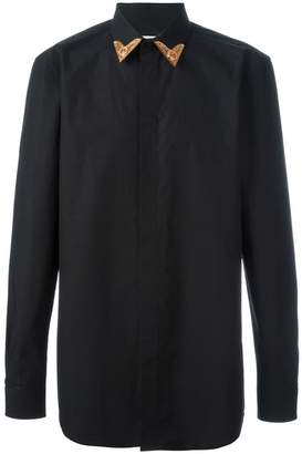 Givenchy contrast collar tip shirt