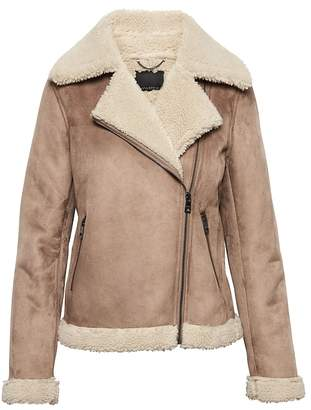 Banana Republic Sherpa Moto Jacket