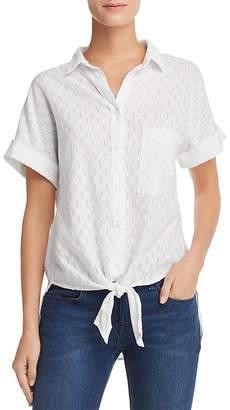 Bella Dahl Eyelet-Stripe Shirt