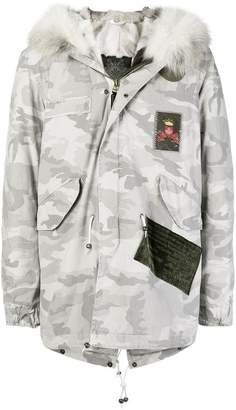 Mr & Mrs Italy camouflage trimmed hood parka
