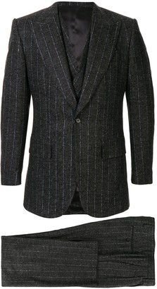 pin stripe three piece suit