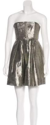 Alice + Olivia Strapless Metallic Dress