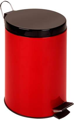 Honey-Can-Do Round Steel Step Trash Can