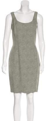 Tahari Abstract Print Knee-Length Dress
