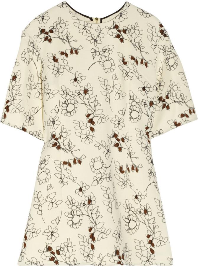 Marni Printed wool-twill top