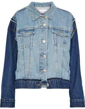 The Carina Paneled Two-Tone Denim Jacket