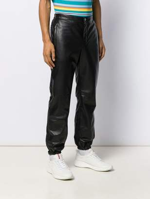 Prada double material trousers