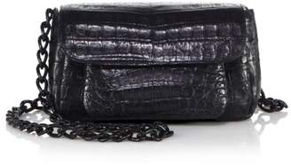 Nancy Gonzalez Mini Accordion Crocodile Crossbody Bag