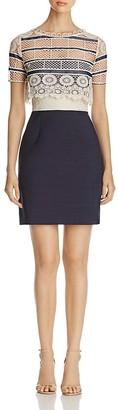 Elie Tahari Carline Crochet Bodice Dress $398 thestylecure.com