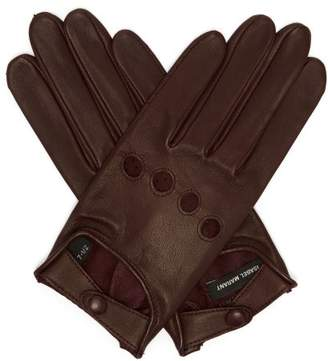 Isabel Marant Leather Gloves - Womens - Burgundy