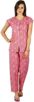 Bimba Cotton Night Wear Pajama Set Short Sleeve Shirt with Pyjamas Night  Suit 4fc58366b