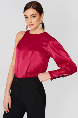 MANGO Asymmetric Satin Blouse