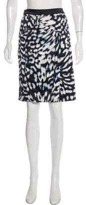 Just Cavalli Abstract Print Mini Skirt