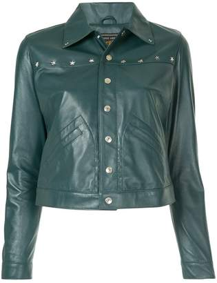 Hysteric Glamour ram leather studded jacket