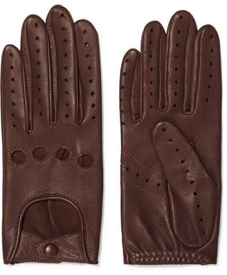 Agnelle Faye Leather Gloves - Tan