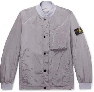 Stone Island Reversible Garment-Dyed Nylon-Metal Bomber Jacket