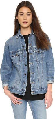 Denim x  Alexander Wang Daze Oversized Denim Jacket $450 thestylecure.com