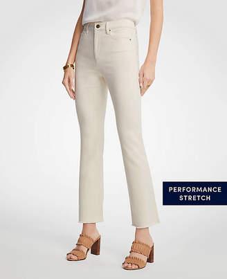 Ann Taylor Raw Hem Flare Crop Jeans