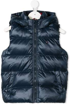 Tommy Hilfiger (トミー ヒルフィガー) - Tommy Hilfiger Junior zipped padded vest