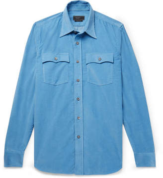 Prada Slim-Fit Cotton-Corduroy Shirt