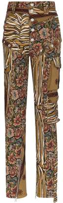 Thierry Mugler tapestry cargo trousers