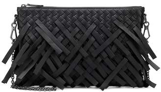 Bottega Veneta Palio Fringes leather pouch