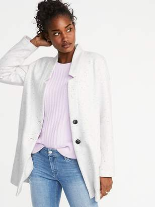 Old Navy Soft-Brushed Button-Front Coat for Women