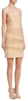 Halston Women's Layered Sheath Dress - Champagne - Size 4
