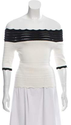 Yigal Azrouel Patterned Off-The-Shoulder Top