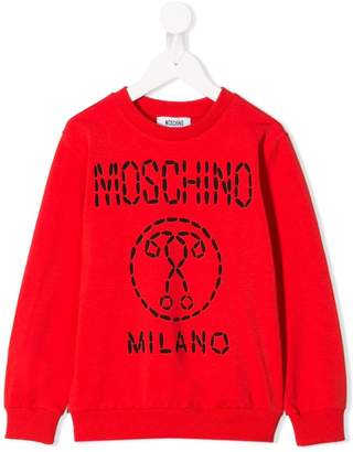 Moschino Kids logo patch sweater