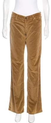 7 For All Mankind Velour Mid-Rise Pants