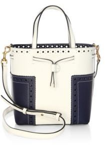 Tory Burch Brogue Mini Drawstring Leather Tote $375 thestylecure.com
