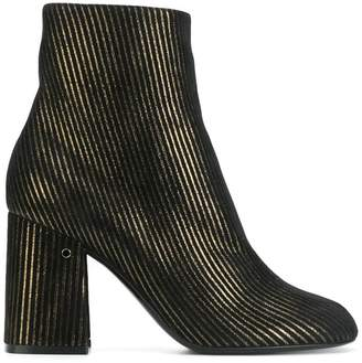 Laurence Dacade striped ankle boots