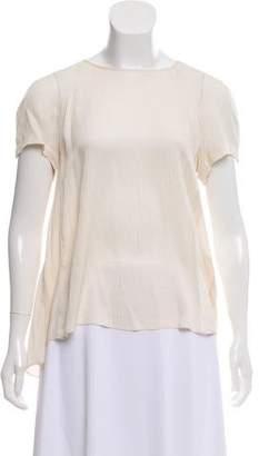 Rebecca Taylor Short Sleeve Plisse Top