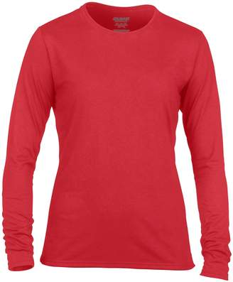 Gildan Womens/Ladies Performance Freshcare Long Sleeve T-Shirt