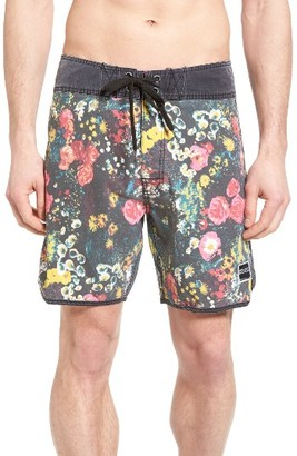 Men's Ezekiel Floral Print Board Shorts $65 thestylecure.com