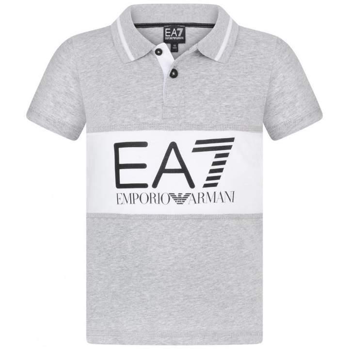 EA7 Emporio ArmaniBoys Grey Polo Top