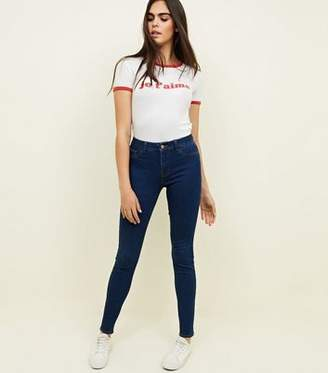 New Look Blue Rinse Wash Skinny Mid Rise Jenna Jeans