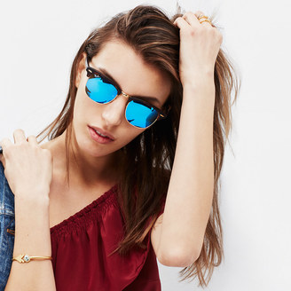 womens clubmaster ray bans  Madewell Ray-Ban庐 Clubmaster庐 Flash Sunglasses - ShopStyle Women