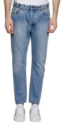 Off-White Men's Slim Low-Crotch Jeans