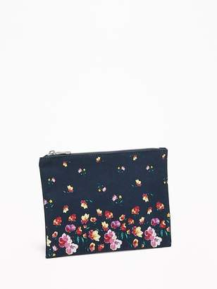 Old Navy Printed Canvas Cosmetics Bag for Women