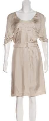 Max Mara Scoop Neck Knee-Length Dress