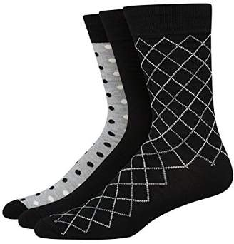 Hanes Ultimate Men's 3-Pack X-Temp Crew Knit Dress Socks