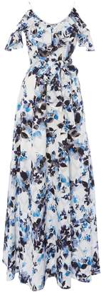 Eliza J floral off shoulder flutter maxi dress
